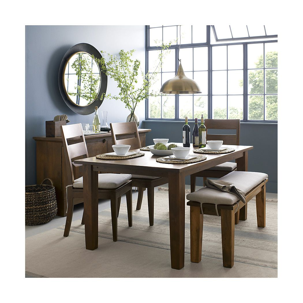 Metra extension dining table crate and barrel - Basque Honey Wood Dining Chair And Cushion