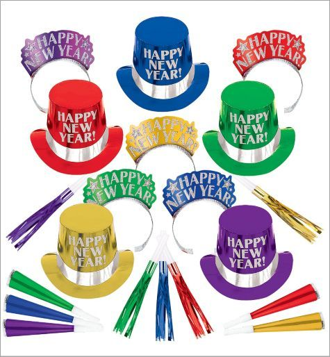 Colorful New Year's Party Kit For 10 - Midnight Elegance - Party City