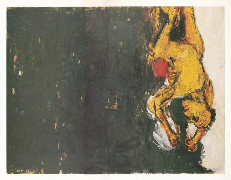 Georg Baselitz - Der Trommler (1982) at 1987's Art Of Our Time, The Royal Scottish Academy, Edinburgh.