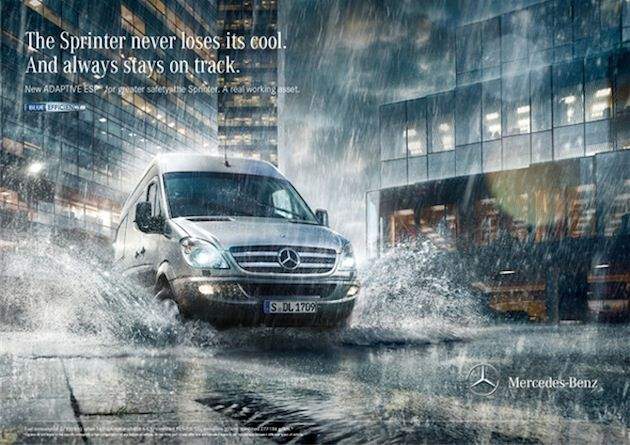 47cbe07b39 Mercedes-Benz Sprinter Print-Kampagne
