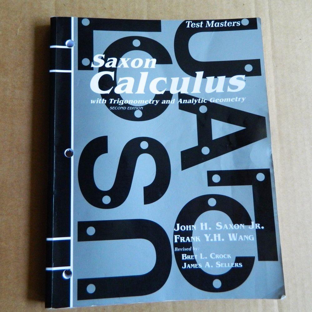 saxon calculus test masters 2nd edition math homeschool school rh pinterest com Saxon Calculus Table of Contents saxon calculus 2nd edition solutions manual pdf