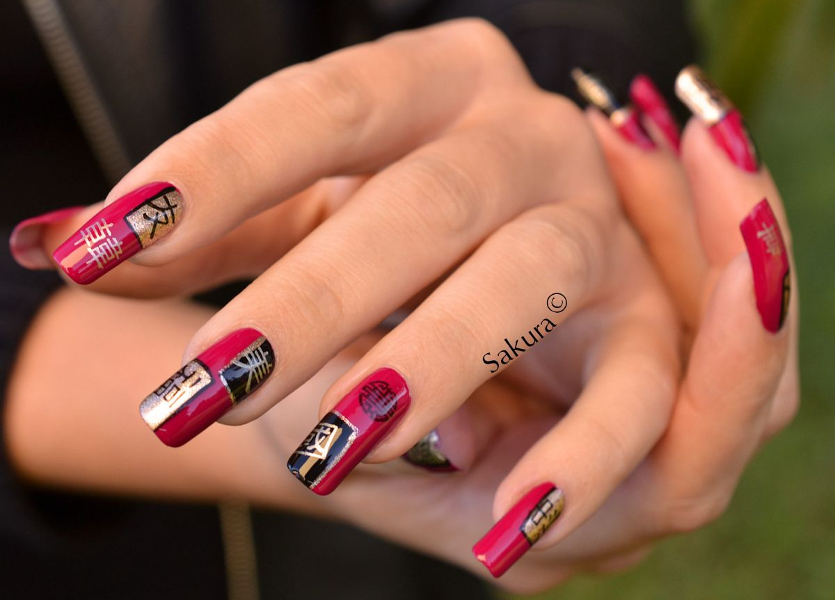 asian nails Nail art by Sakura on natural nails photo gallery