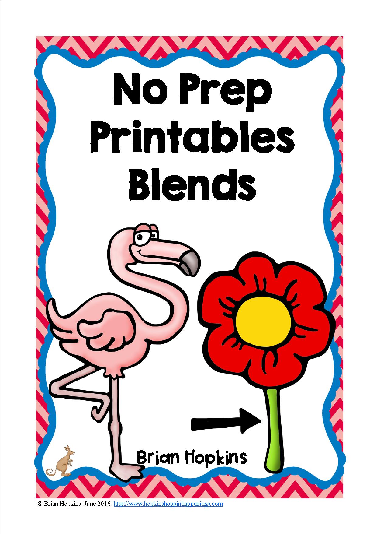 Blends No Prep Printables