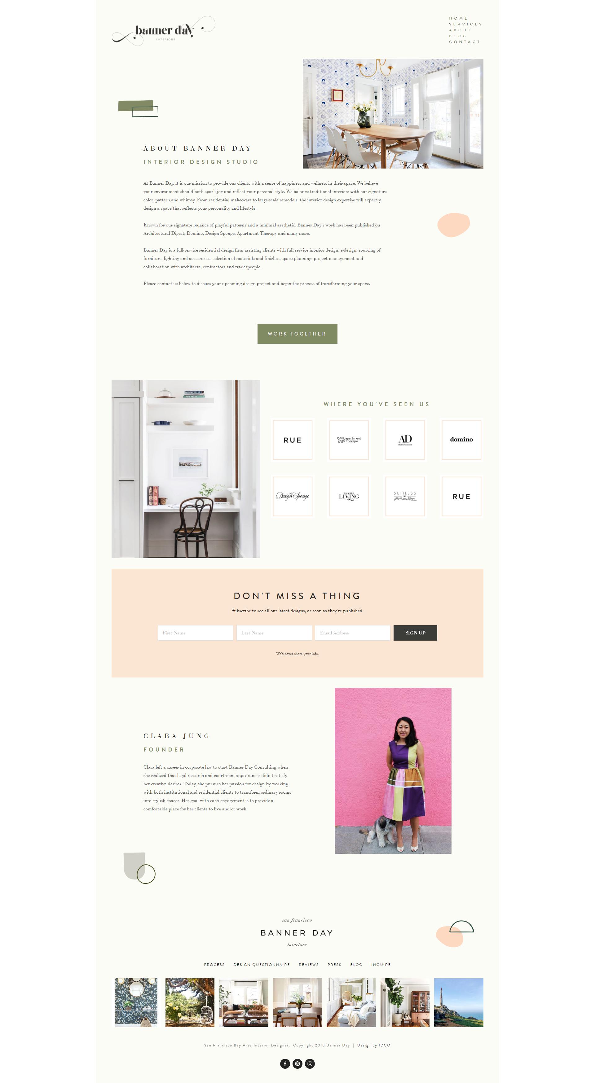 The Identite Collective Branding Web Design And Content Creation For Interior Designers And Lifestyle Bran Web Design Website Inspiration Web Design Company