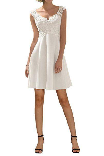 Milano Bride Elegant V-Ausschnitt Spitze Chiffon Hochzeitskleider ...