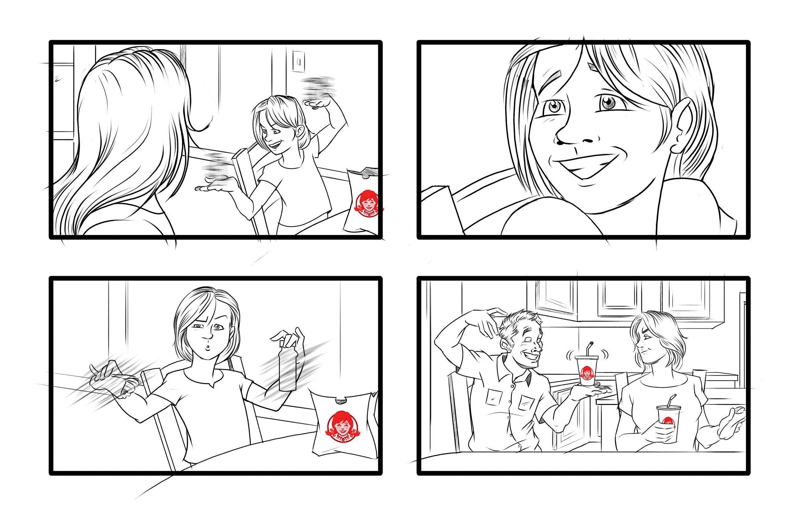 A Wendys Storyboard Sample Art Storyboards Napoleongroup