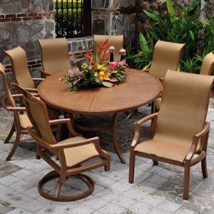 Perfect Cast Aluminum Sling Set With New Ellipse Style Table. For Outdoor Patio  Furniture Ideas Check Part 8