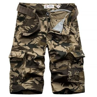 0dbd2dbb8e6 New 2017 Men Cargo Shorts mens Casual Loose Short Pants Camouflage Military male  Summer Knee Length