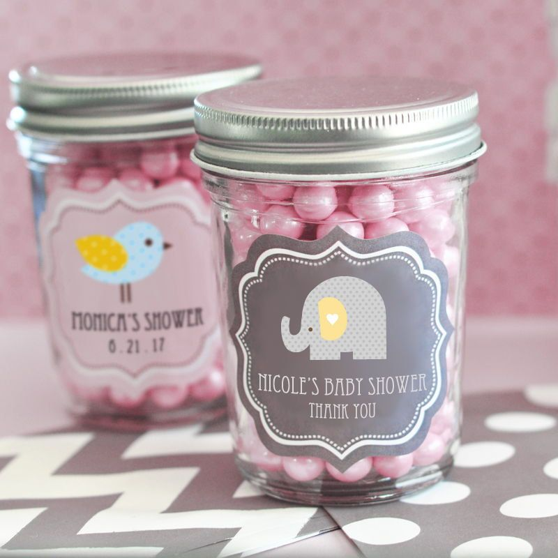 aa5eae10c 24 + Personalized Baby Shower Mini Mason Jars Candy Favor Favors Imprinted  Custom Monogrammed Adorable! LOTS of Designs!