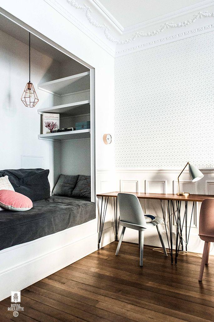 royal roulotte renovation decoration fontainebleau nest alcove papier peint kube meraude. Black Bedroom Furniture Sets. Home Design Ideas