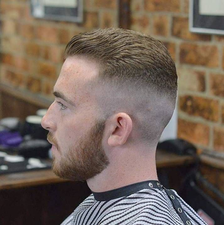Slicked Back High Fade. Skin Fade For Receding Hairline