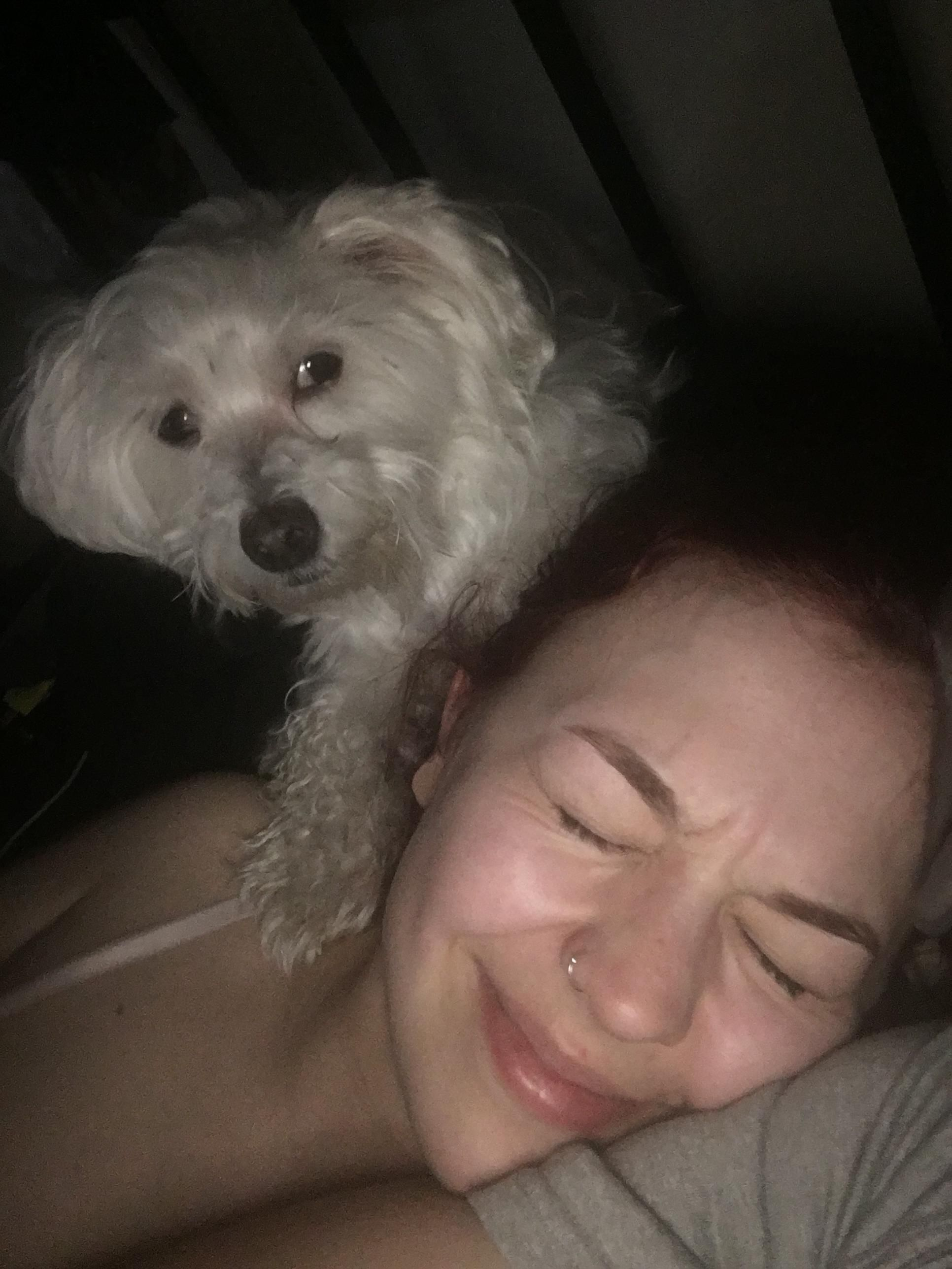 I can't tell if my dog is protecting my girlfriend or has murderous intentions