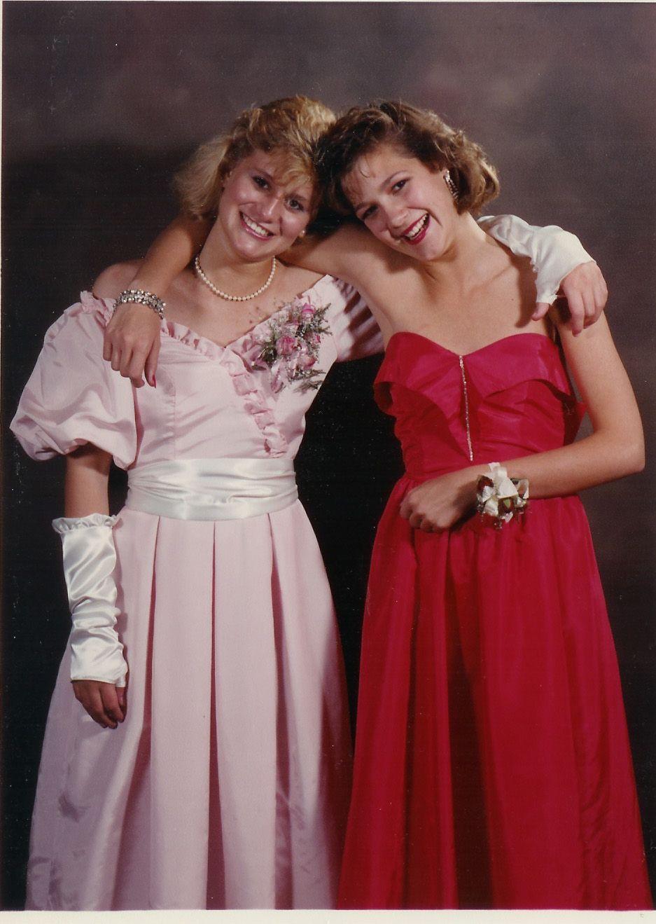 Classic 1985 Prom Vintage Prom 80s Fashion 80s Prom [ 1319 x 937 Pixel ]