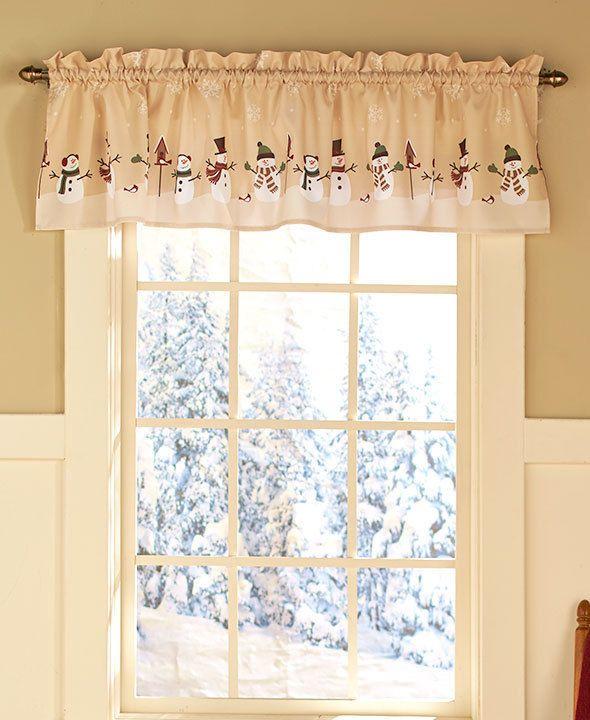christmas valances window treatments