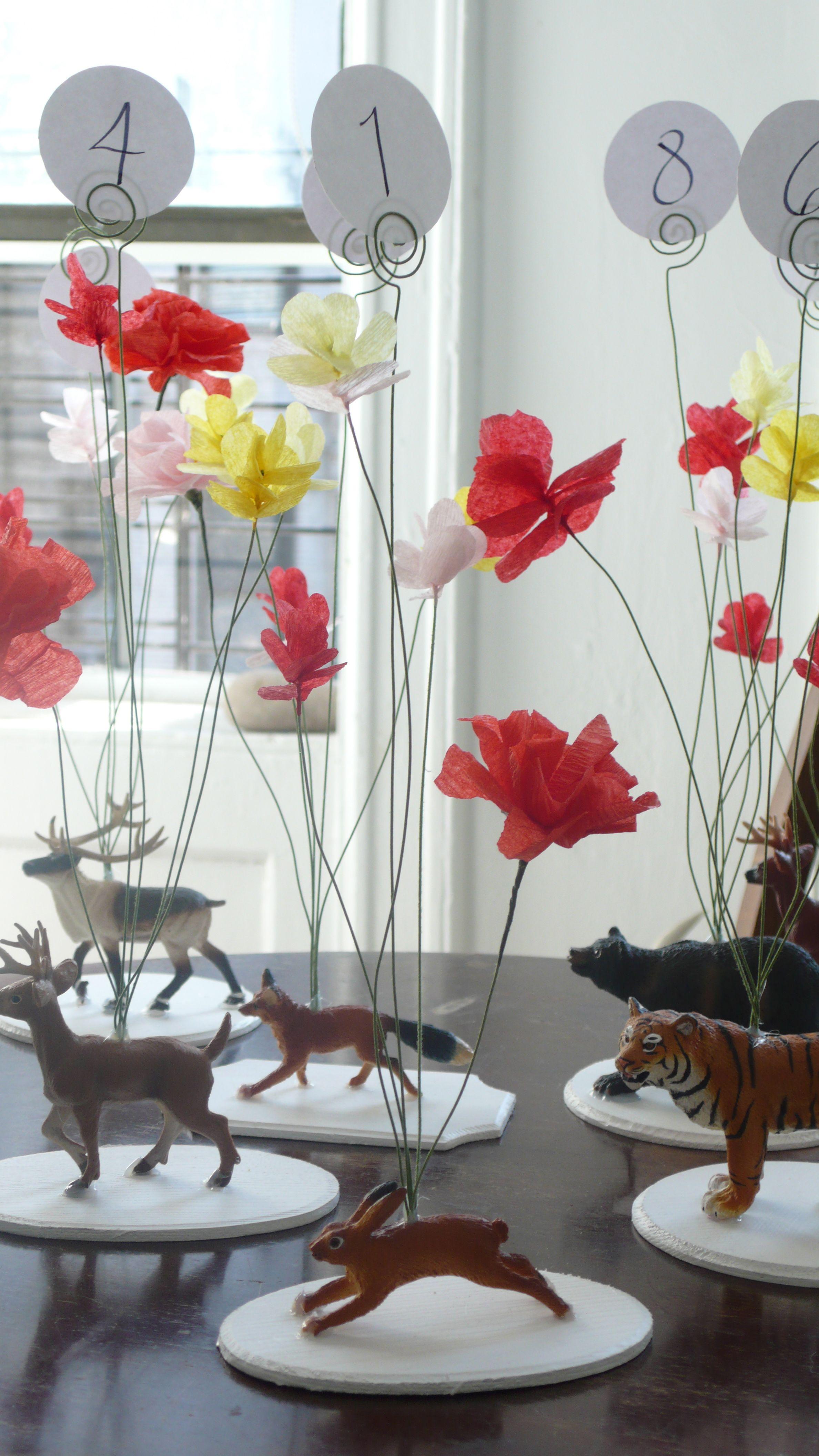 Non-floral wedding centerpieces | Pinterest | Plastic animals ...