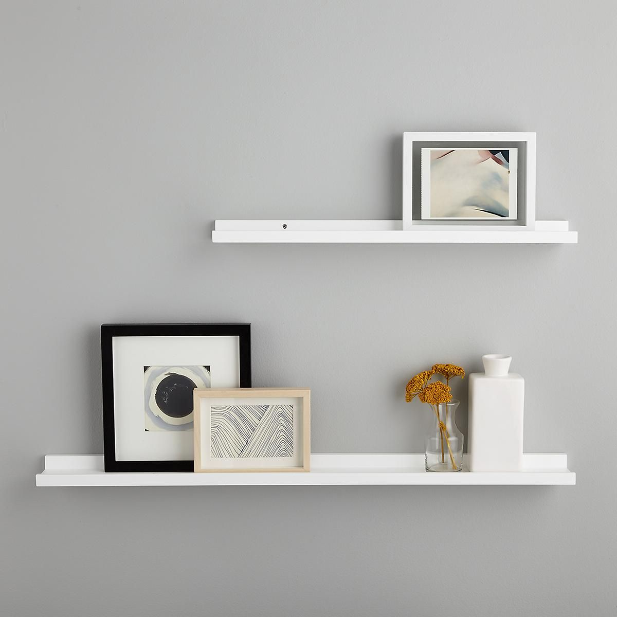white ledge wall shelves the container store wall on wall shelves id=62974