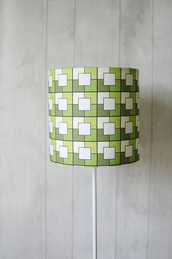 Green Geometric Lampshade Geometric Table Lamp Green Lamp Shade Geometric Decor Lampshade Lighting Retro Decor Bedside Lamp Shade Green Lamp Shade Modern Lamp Shades Bedside Lamps Shades