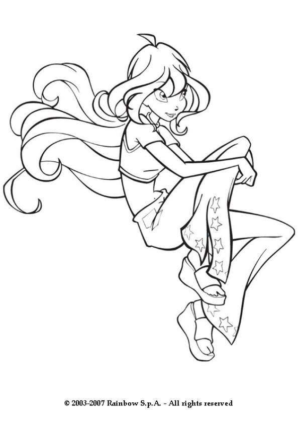 BLOOM coloring pages - Bloom the winx club fairy | Coloring Pages ...