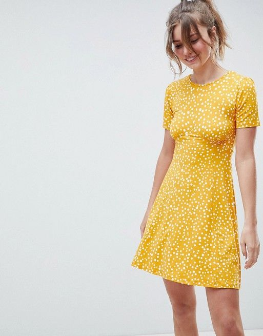 Ultimate Mini Tea Dress In Scatter Spot - Scatter spot Asos Clearance Discount Inexpensive Cheap Price Cheap Sale 2018 Newest dHdFSC
