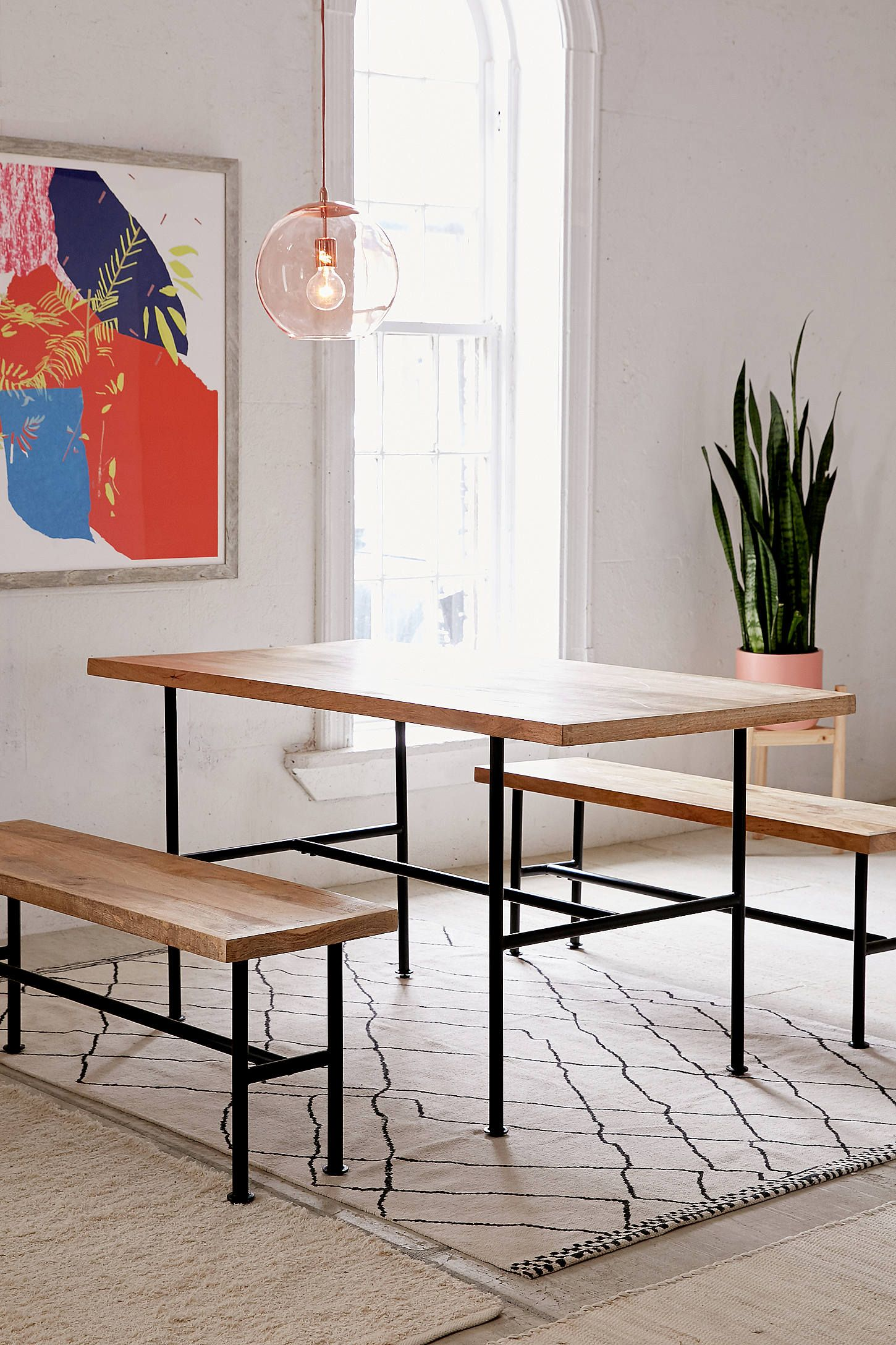 Kendall Pipe Dining Table  Pipes Apartment Living And Apartments Brilliant Kendall Dining Room Inspiration