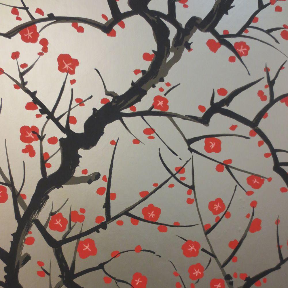 Fabric Wallpaper Black Floral Wallpaper Red And Black Wallpaper Wallpaper