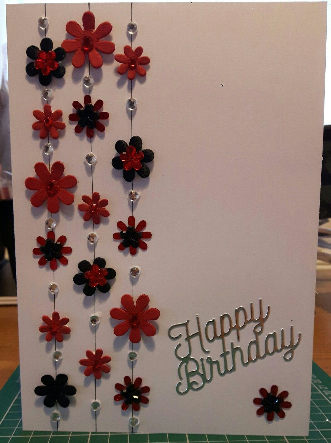 Quick card with flowers and beads cards birthday pinterest quick card with flowers and beads izmirmasajfo