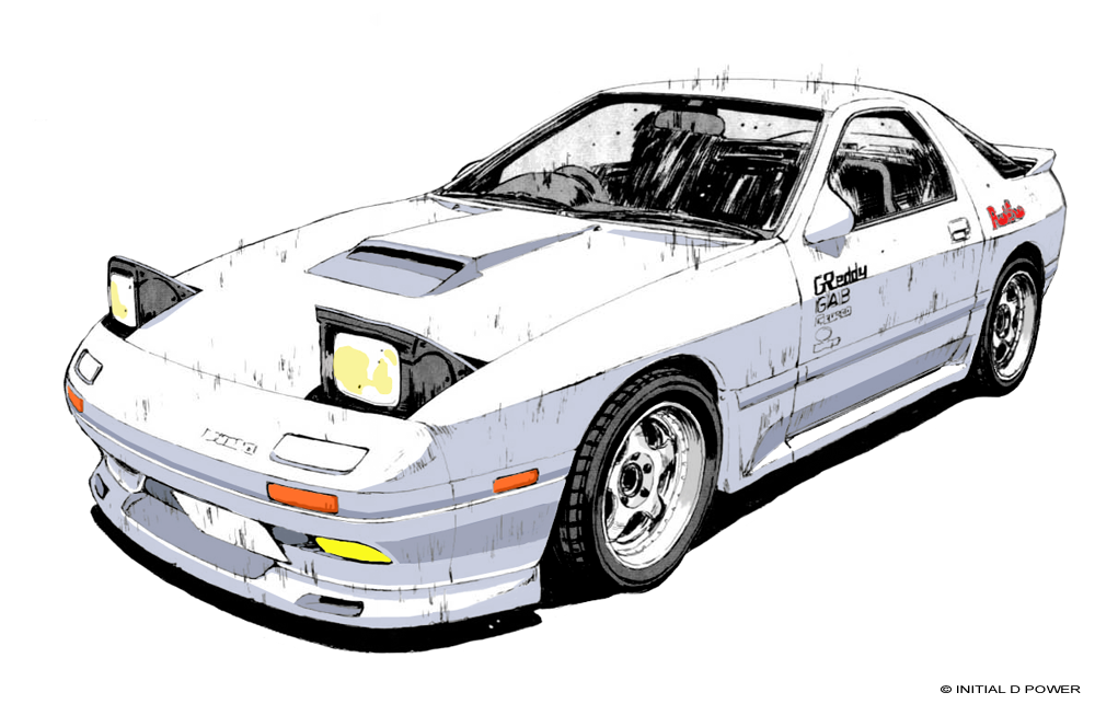 Rx7 Manga Initial D Initial D Car Rx7