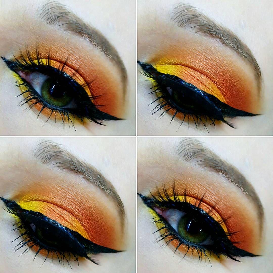 "tmpmakeup — Tribal Eyes Design on Instagram ""Orange theme"