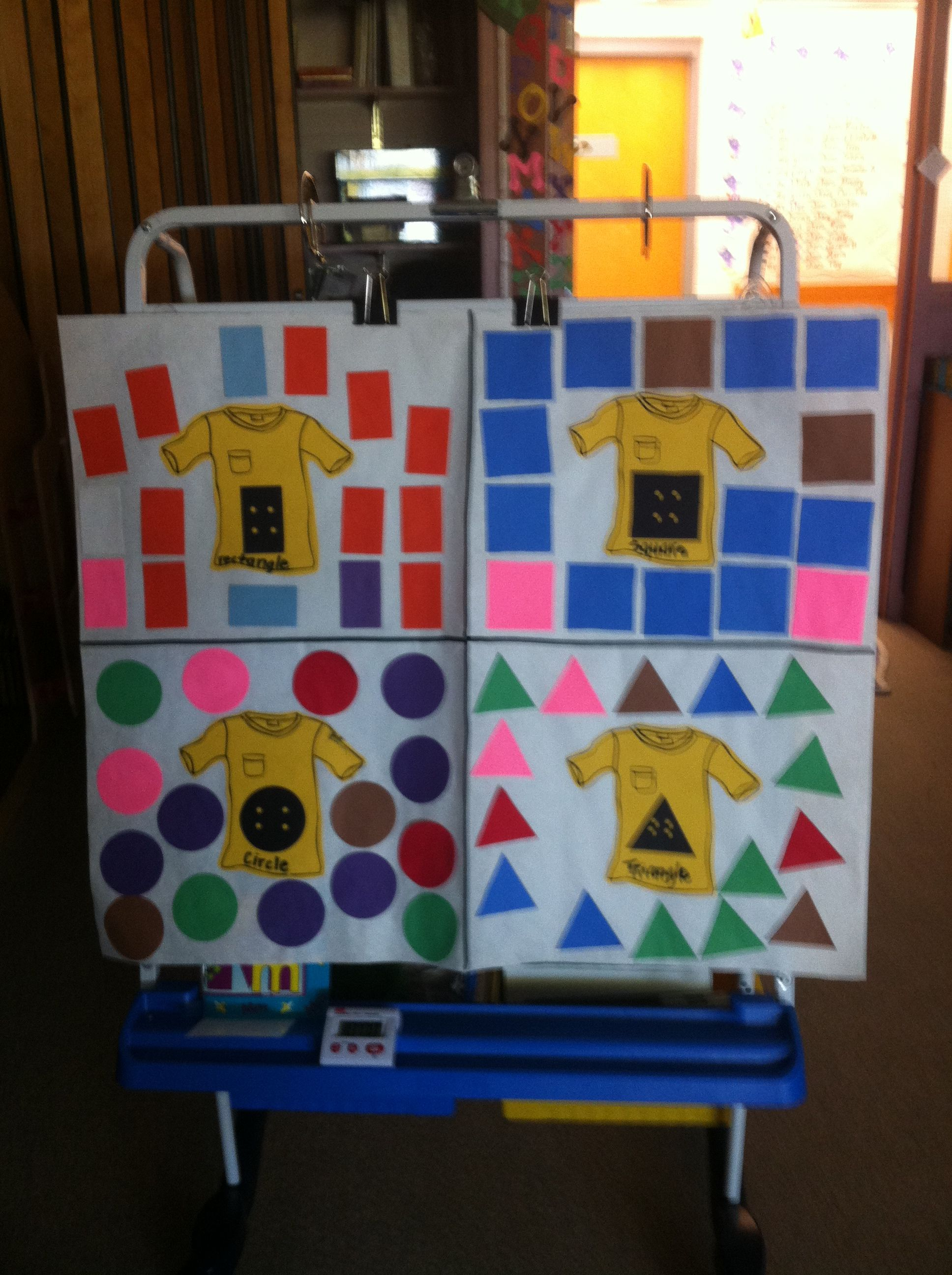 We Sorted Shape Buttons Onto Pete The Cat Shirts Same As My Color Activity Just Using Shapes