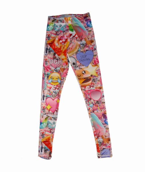 Girls Random Art Printed Leggings