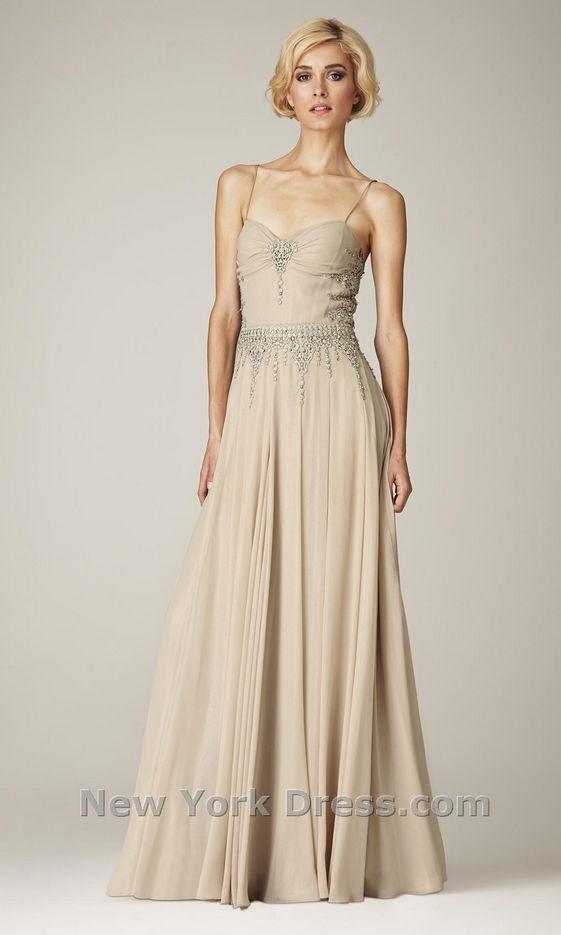 Mignon Vm943 Sparkling Lace Silk Detail Evening Gown Red Carpet 8 Champagne