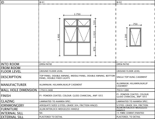 How To Door Window Schedules Using The Interactive Schedule Windows And Doors Windows Patio Flooring
