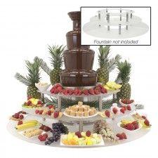 Chocolate Fountain Food Display Riser, 47 in. #chocolatefountainfoods