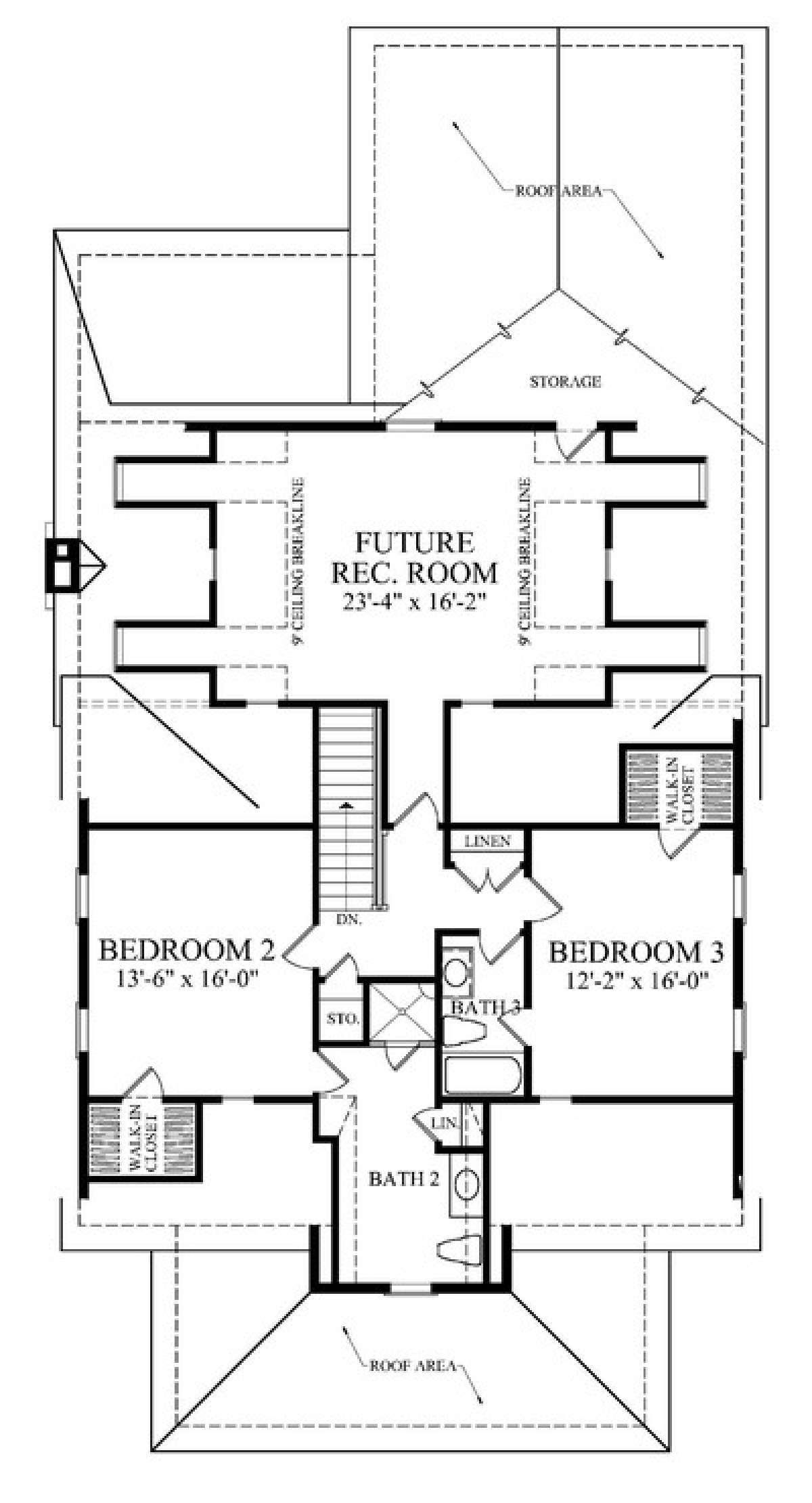 House Plan 7922 00097 Narrow Lot Plan 2 808 Square Feet 4 Bedrooms 4 Bathrooms In 2020 Farmhouse Style House Plans Craftsman Style House Plans Cottage Style House Plans