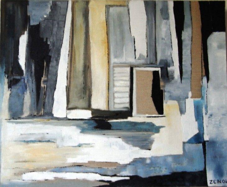 Bleu lin : une création de Gaby Fossier-Zein (http://www.zein-art.fr)