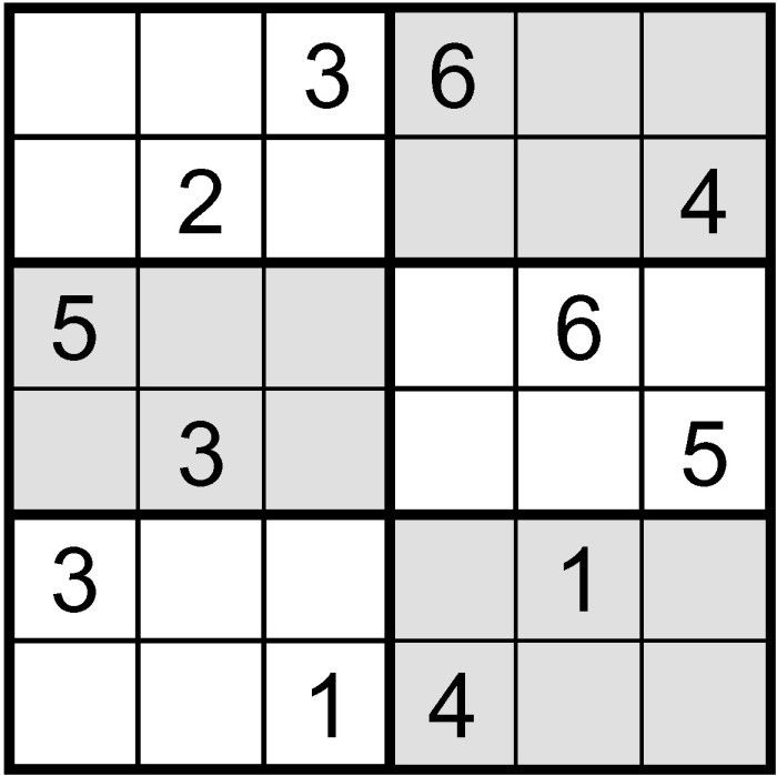 Easy Sudoku Puzzles to Print 6x6 | Easy Sudoku 6x6 Related