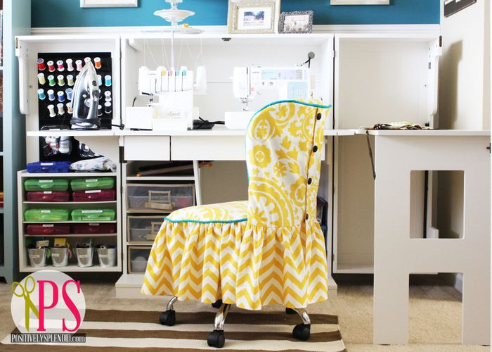 Amazing Sewing Room/Home Office Reveal via Positively Splendid @splendidamy - lots of great organizing tips in this post!