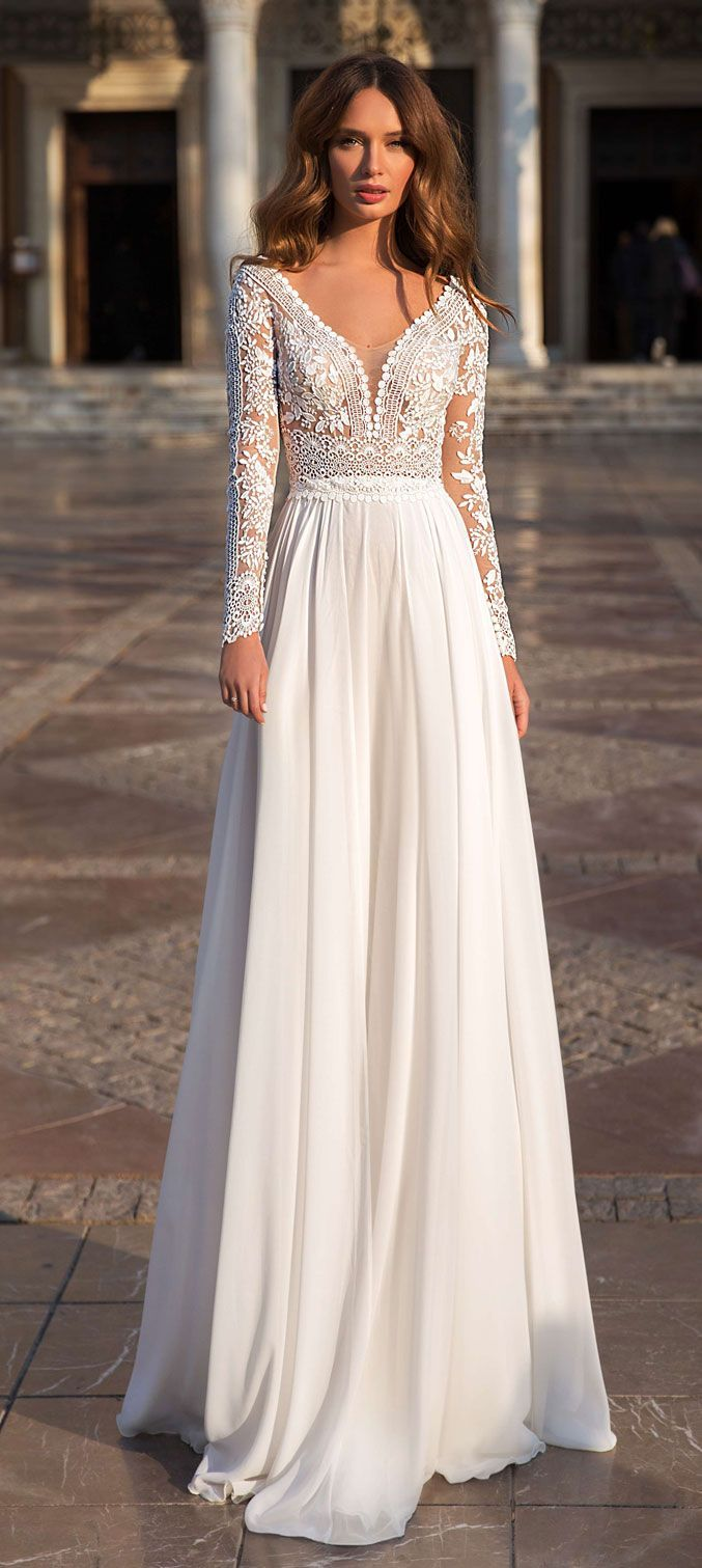 55 Long sleeve wedding dresses for fashion forward brides,  #brides #Bröllopsklänning #dresse…
