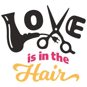 Download Love in in the hair | Silhouette design, Silhouette ...