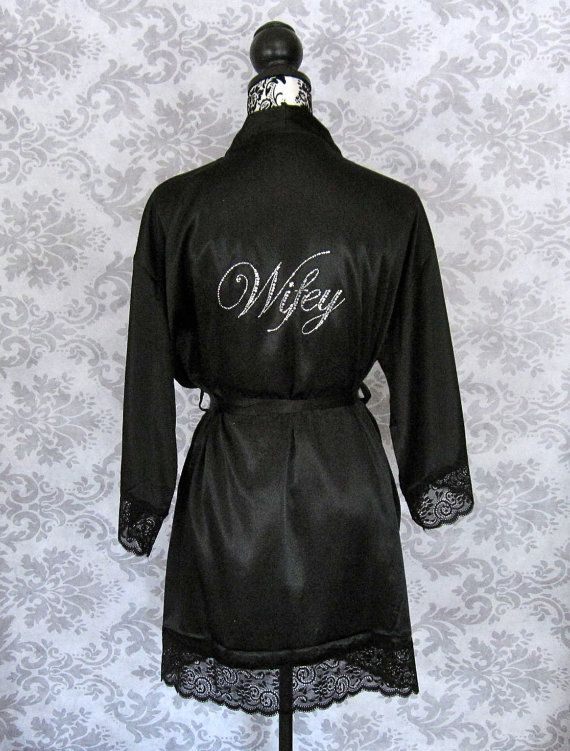 """Bride Robe- white with """"he put a ring on it"""" on the back. Love!!"""