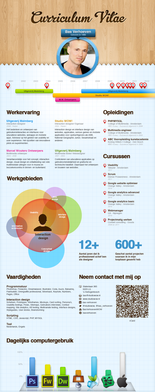 cv    resume bas verhoeven  infographic