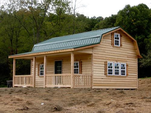 Gambrel cabins for sale in ohio amish buildings holmen for Gambrel barn homes kits