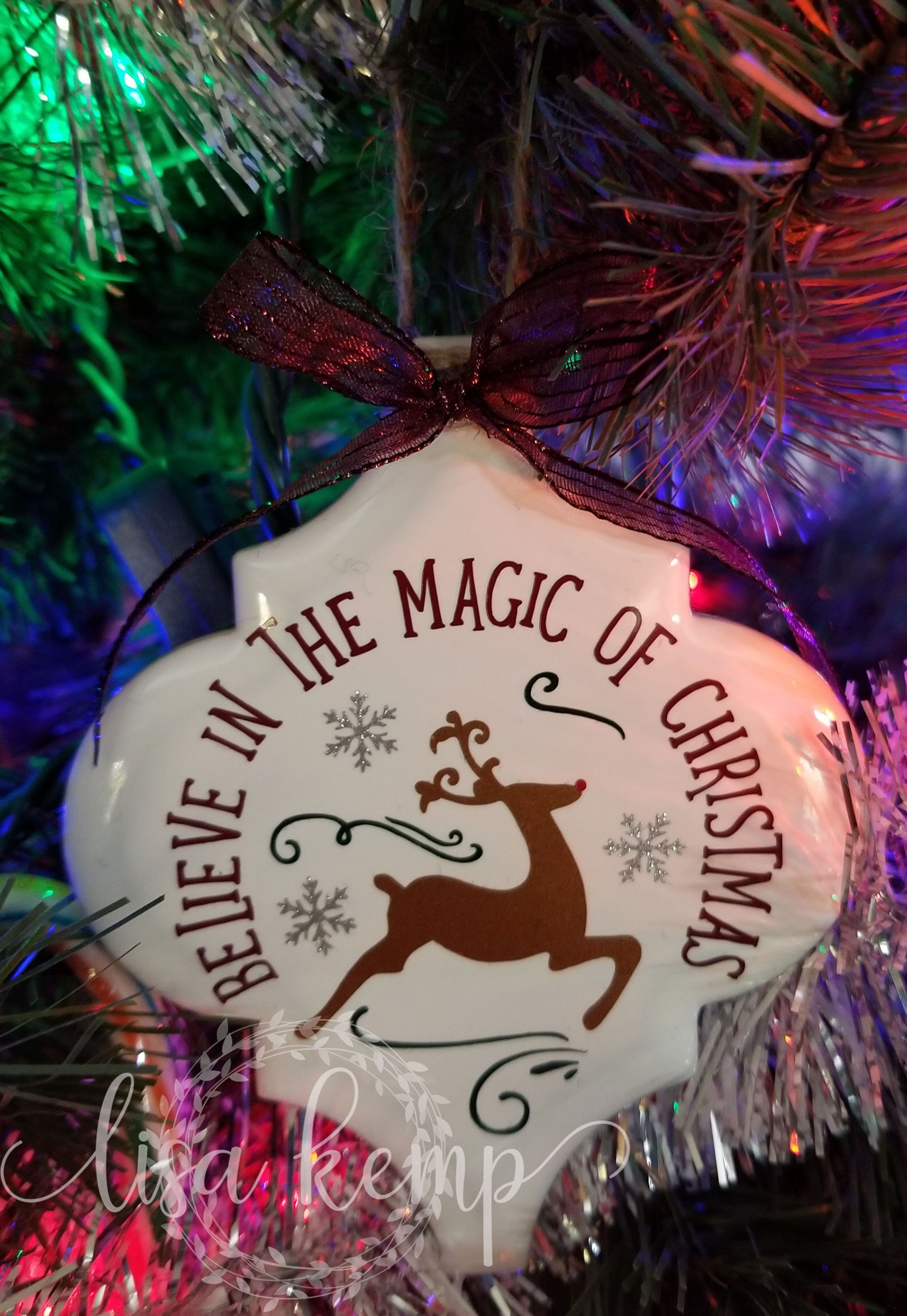 Believe In The Magic Of Christmas Ceramic Lantern Tile Etsy In 2021 Christmas Ornament Crafts Christmas Ornaments Homemade Diy Christmas Ornaments