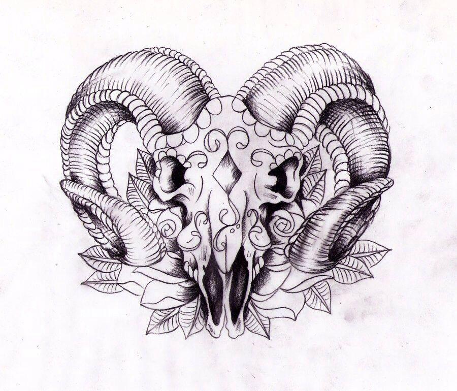Day Of The Dead Ram Aries Tattoo Ram Tattoo Symbolic Tattoos