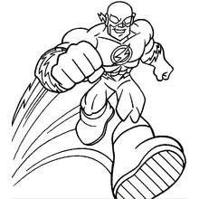 Dessin A Colorier Flash Super Heros 19 Coloriages A Imprimer