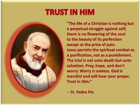 RT @ConnectCatholic: 7th Day of Novena  Blessed St. Pio of Pietrelcina you have worked in Gods Plan for https://t.co/rtyF29Wf1H