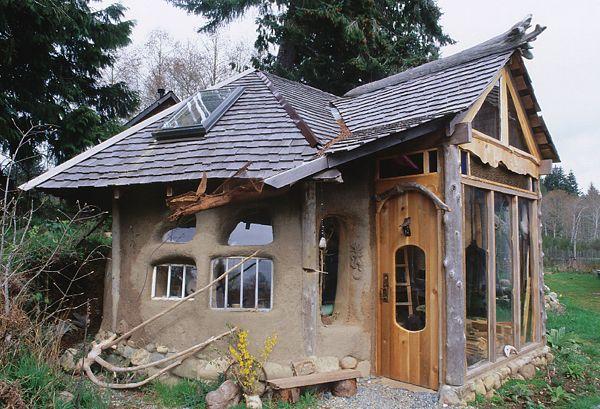 cob cottage near Sooke, British Columbia