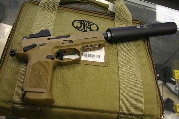 Suppressed FN .45 Find our speedloader now!  www.raeind.com  or  http://www.amazon.com/shops/raeind