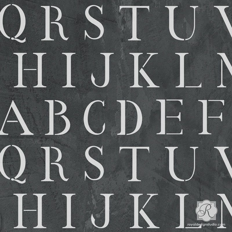 Simple Typography Spells Out A Powerful Motivation For: Classic Letter Stencil