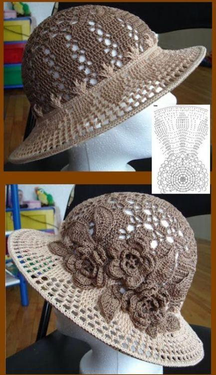 Crochet Hat Flower Beautiful 65+ Ideas #hatflower